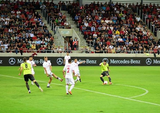 Skóre zápasu otváral touto strelou striedajúci Andrej Ivančík.