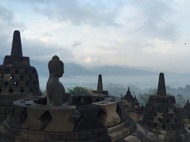 Chrám Borobudur.