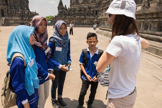 Chrámový komplex Prambanan.
