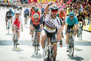 Peter Sagan počas prvej etapy pretekov Okolo Poľska 2017.