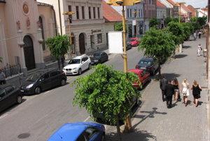 Štefánikova ulica v Trnave.