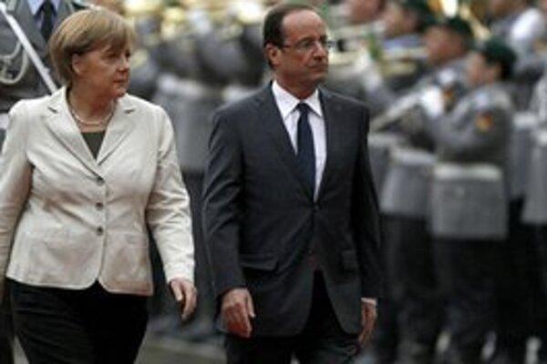 Prvé stretnutie nového francúzsko-nemeckého dua nazývaného Merkollande sa odohralo v utorok podvečer.