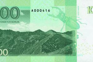 Zo zadnej strany má slovenská bankovka Roháče a chrobáka roháča.