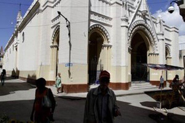Kostol v centre Havany, ktorí obsadili disidenti.