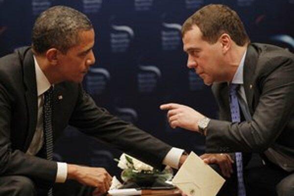 Barack Obama a Dmitrij Medvedev.