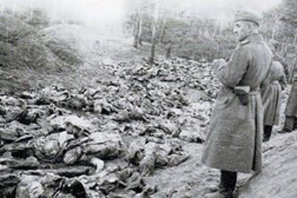 Poľské obete v Katyni.