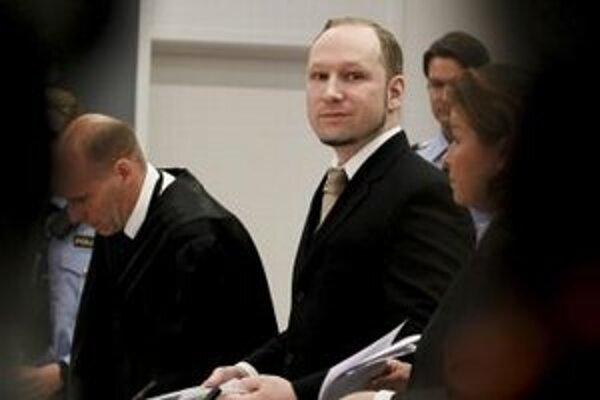 Anders Breivik na súde.