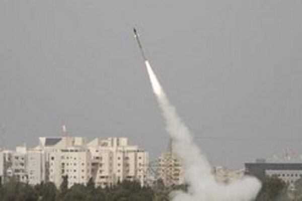 Test izraelskej protilietadlovej obrany.