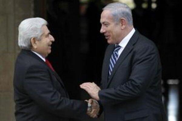 Cyperský prezident Dimitris Christofias a izraelský premiér Benjamin Netanjahu.