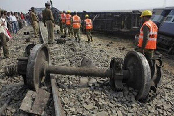 Železničné nešťastia sú v Indii časté.