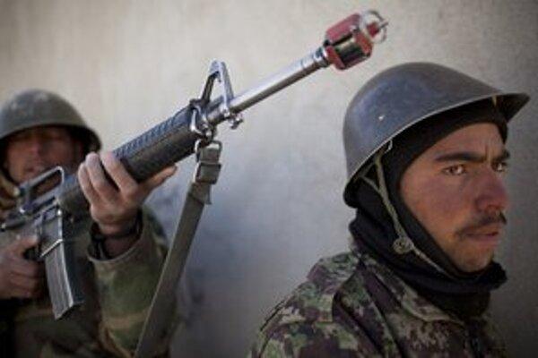 Vojaci afganskej armády.