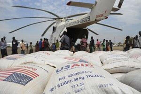 Potravinová pomoc v Južnom Sudáne.