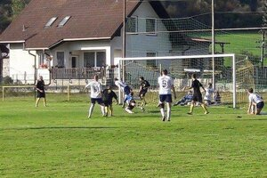 Zo zápasu v Beňadikovej, kde zavítala Hrboltová. FOTO: TJ SOKOL