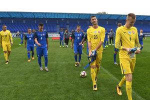 Oficiálne fotografovanie futbalistov a realizačného tímu reprezentácie SR 21 v NTC Poprad.