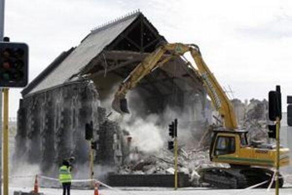 Minulý rok zemetrasenie zničilo centrum mesta Christchurch.