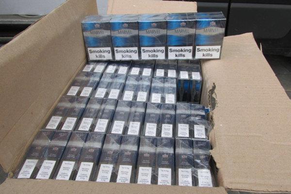 Zadržané pašované cigarety.
