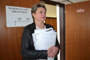 Svetlana Romanová na humenskom súde.