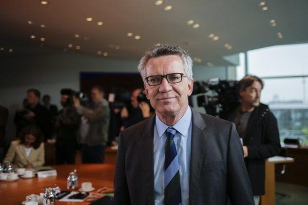 Nemecký minister vnútra Thomas de Maiziere.