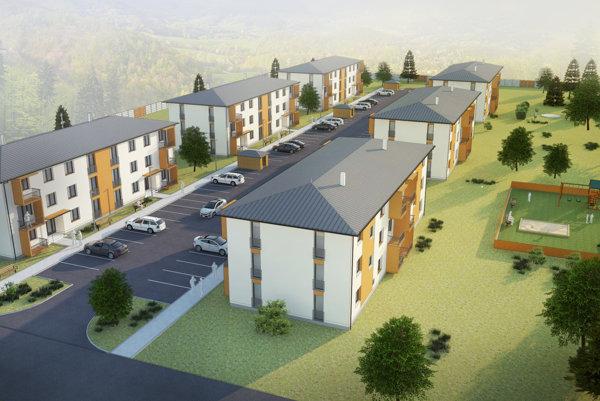 Vizualizácia novej bytovej zóny.
