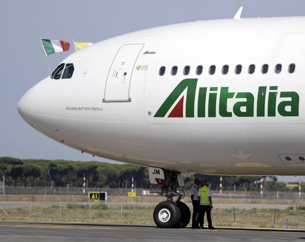Lietadlo spoločnosti Alitalia.