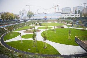 Na snímke priestory nového športparku JAMA na mieste bývalého Národného cyklistického štadióna Vlastimila Ružičku v lokalite Tehelné pole.