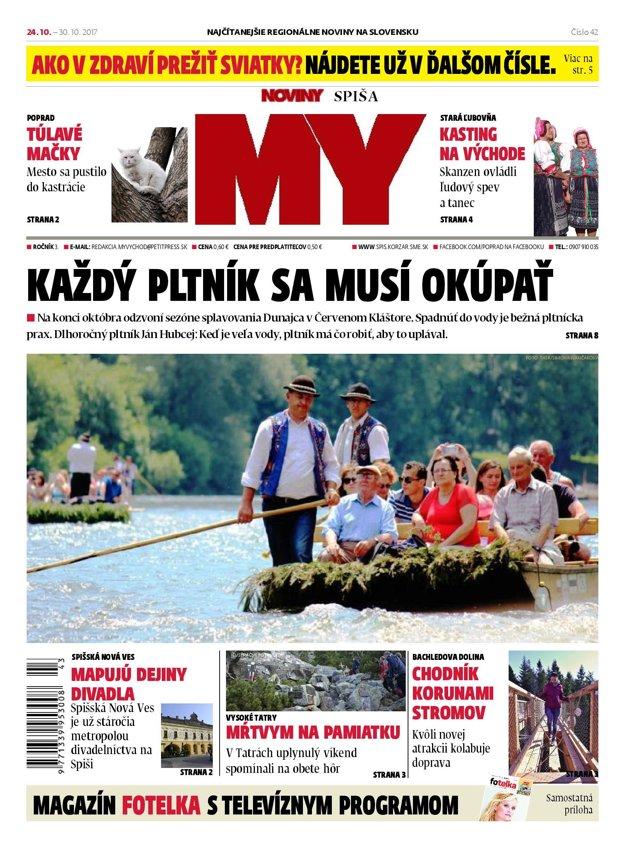 Titulka MY Novín Spiša.