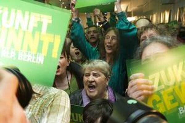 Nemeckí Zelení oslavujú.