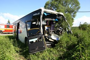 Nehoda sa stala vlani v máji pri Krupine.