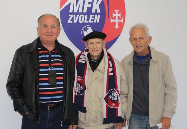 Spoločná fotografia, zľava: Milan Marčok, Ján Bosák a Michal Bešina