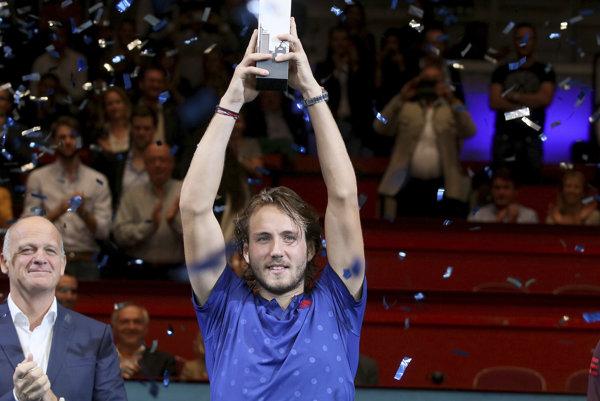 Francúz Lucas Pouille zdolal krajana vo finále turnaja vo Viedni.