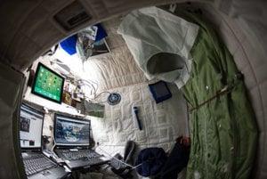 Izba, v ktorej býval Scott Kelly počas pobytu na ISS.