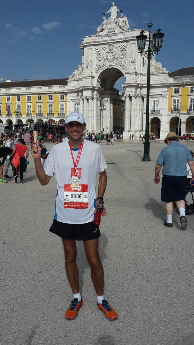 Kamil Šramko po maratóne v Portugalsku