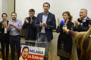 Oslavujúca pravica v Prešove.