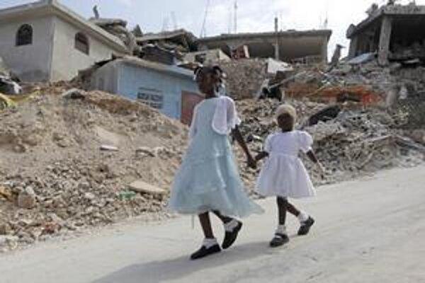 Zničené Haiti
