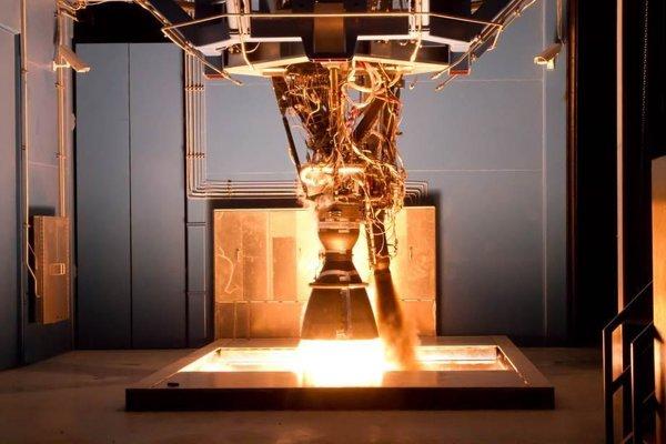 Ilustračné foto. Test motora Merlin z 31.8. 2015.