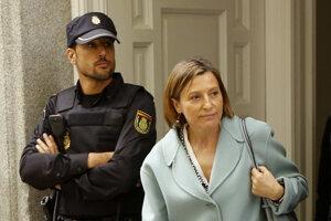 Carme Forcadellová na súde v Madride.