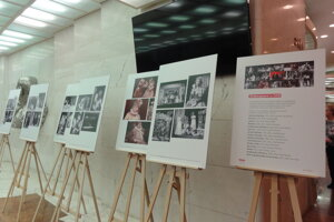 Výstava je v dolnom foyeri DAB.
