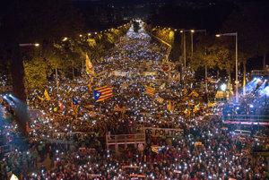 Demonštrácie v Barcelone.