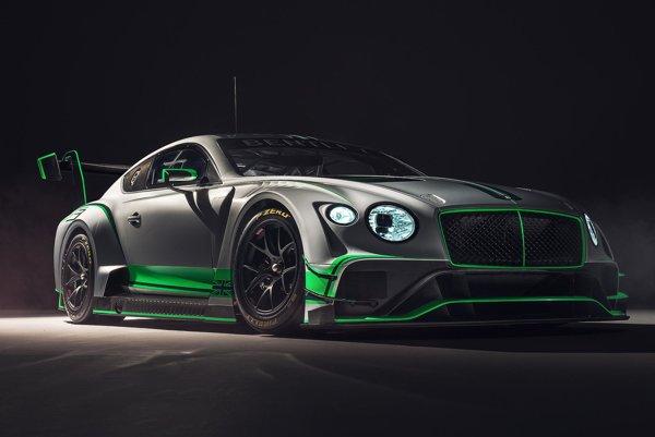 Bentley Continental GT3 pre vytrvalostné preteky. Na pohon pretekárskeho vozidla slúži dvomi turbodúchadlami prepĺňaný štvorlitrový vidlicový osemvalec s maximálnym výkonom okolo 410 kW.