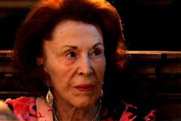 Barónka Marguerite de Reuter.