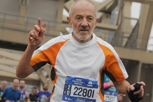 Ján Hazucha počas behu v New Yorku