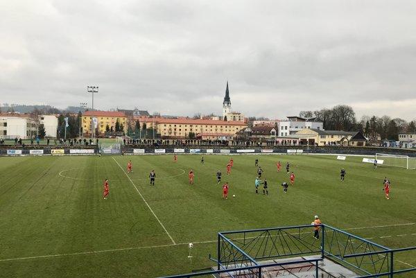 Počas zápasu v Spišskej Novej Vsi.