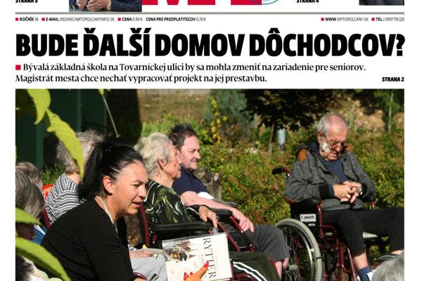 7179ac0ae MY Topoľčianske noviny Dnešok vyšli utorok - SME | MY Topoľčany
