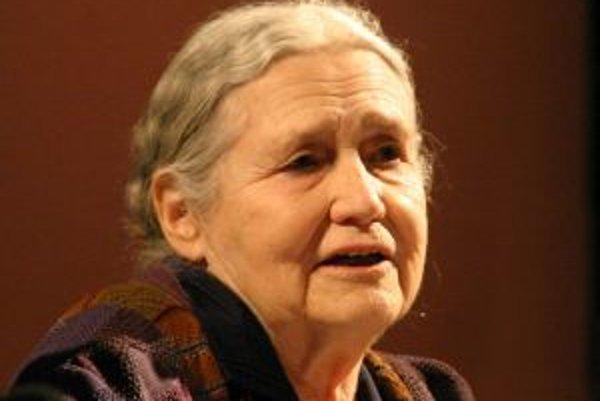 Nositeľka Nobelovej ceny za literatúru za rok 2007, Doris Lessingová.