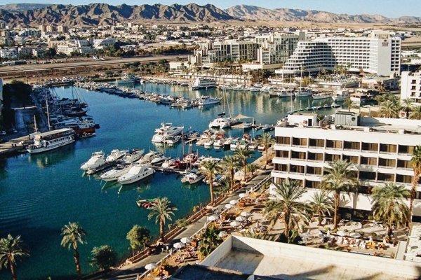 Pohľad na prístav v Eilate