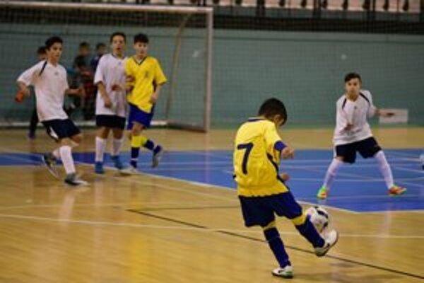 Záber z jedného zo zápasov na turnaji