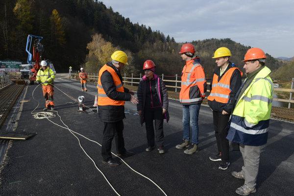 Most cez Ružín. Takto to tam vyzeralo na kontrolnom dni 2. novembra.