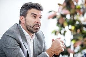 Mark Dekan počas rozhovoru pre denník SME.