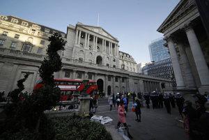 Sídlo britskej centrálnej banky.