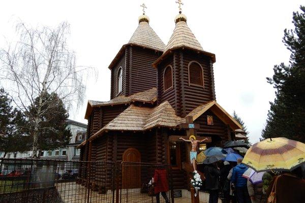 Na snímke nový chrám, zasvätený veľkomoravskému kniežaťu, svätému Rastislavovi.